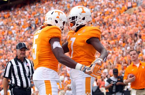 tennessee football vols wr group graded   nationally