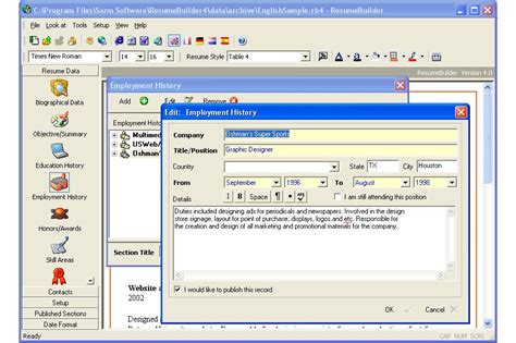 sarm software resume builder 4 8 user reviews software