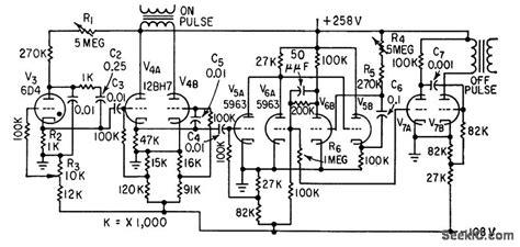 control for fish shocker signal processing circuit