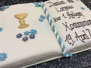 Kuchen Zur Taufe : originelle kommunionstorte in buchform mit goldenem kelch von einfach rezepte in 2019 ~ Frokenaadalensverden.com Haus und Dekorationen