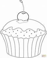 Muffin Coloring Cupcakes Cupcake Kirsche Ausmalbilder Colorare Babeczka Muffins Kolorowanka Disegni Colorear Ausmalbild Dibujos Magdalena Riscos Google Kleurplaten Supercoloring Zum sketch template