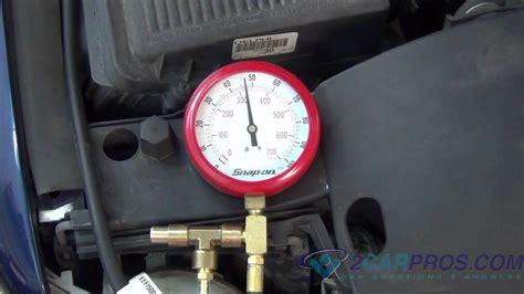 4 vacuum hose fuel pressure and regulator test