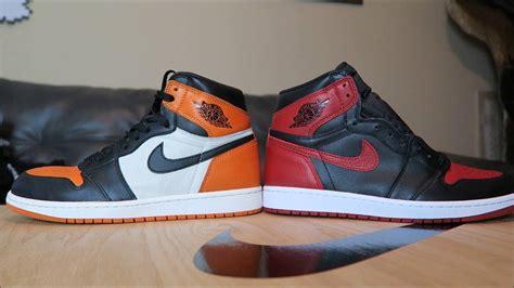 Air Jordan 1 Banned Vs Shattered Backboard Sneakers Major