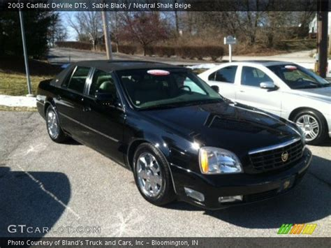 sable black  cadillac deville dts neutral shale