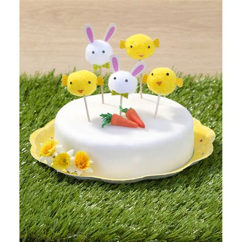 pom pom cuisine easter bunny rabbit and pom pom food toppers by