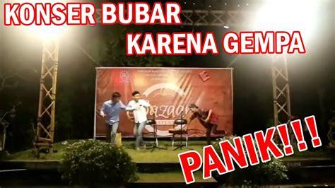 Panik Saat Konser Gempa Dari Lombok Terjadi Bali Today