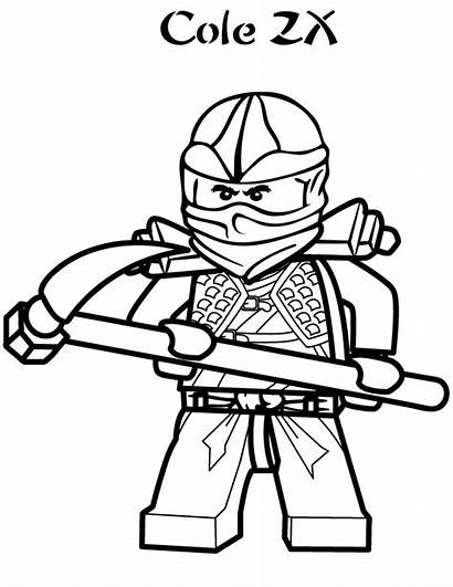 Lego Coloring Pages Ninjago Cole Zx Printable