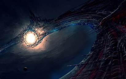 Deep Space Station Amazing Energy Wallpapers Sea