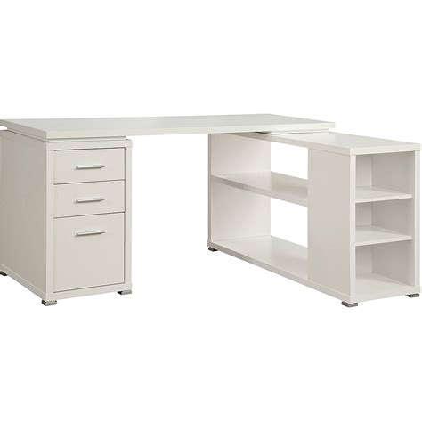 table l white organizer desk hutch computer home executive office drawer