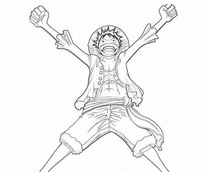Luffy Coloring Happy Piece Pages Monkey Temtodasas