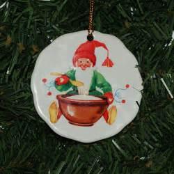 scandinavian swedish tomte rice porridge ceramic ornament 060 ebay