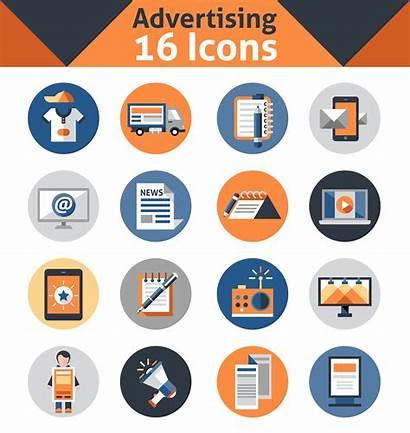 Icon Vector Advertising Icons Vectors Marketing Ad