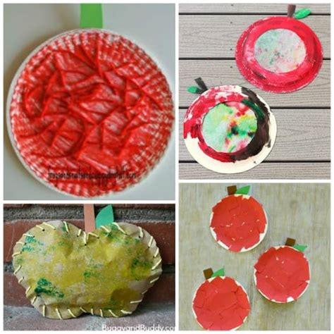 10 preschool apple crafts for ages 2 5 happy hooligans 600 | apple crafts for preschool