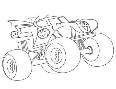 Hot Wheels Coloring Pages Monster Truck Coloring Pages