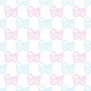 Pink And Blue Baby Strollers Background Seamless ...