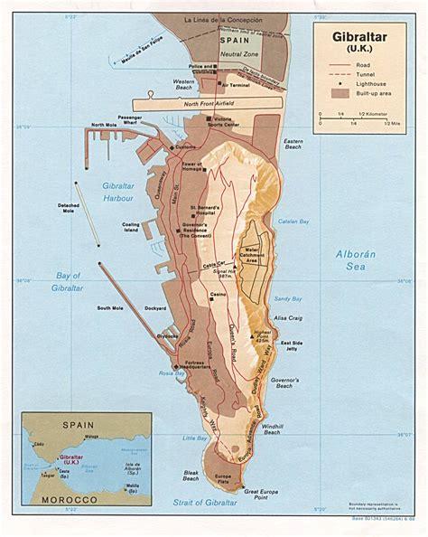 detailed map  gibraltar gibraltar detailed map