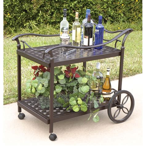 charlston tea cart outdoor furniture dining room