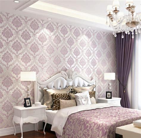 schlafzimmer ideen lila lila tapete 48 interessante ideen