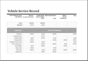 Service Template Excel Ms Excel Vehicle Service Record Log Template Excel Templates
