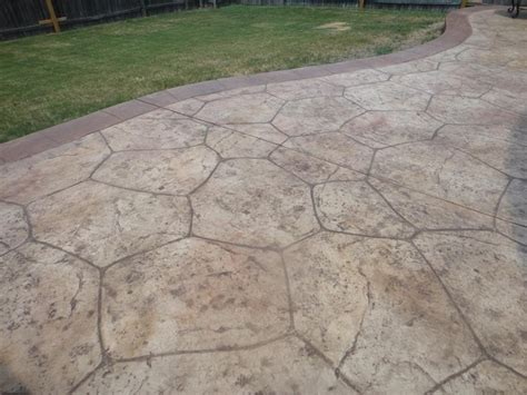flagstone in concrete flagstone sted concrete gallery decorative and sted concrete patios in dallas plano and