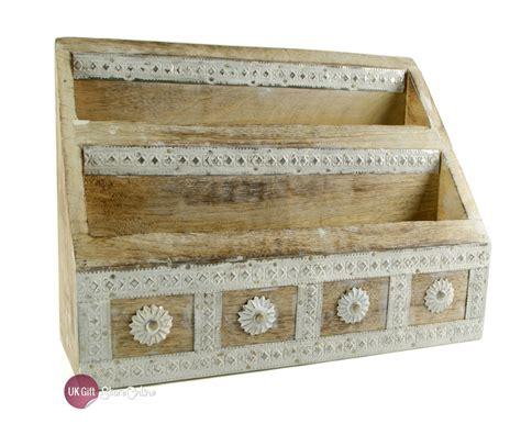 shabby chic letter rack vintage shabby chic carved wooden daisy letter rack wf1702 ebay