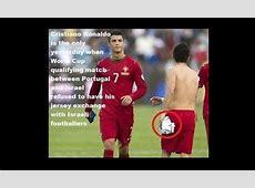Ronaldo Didn't Exchange Jersey with Israeli Player