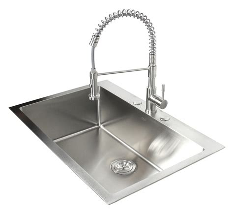 top mount drop  stainless steel single bowl kitchen sink