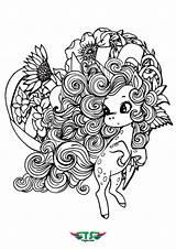 Unicorn Mandala Coloring Print Tsgos sketch template