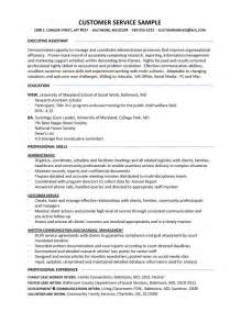 exle of customer service resume resume sles better written resumes