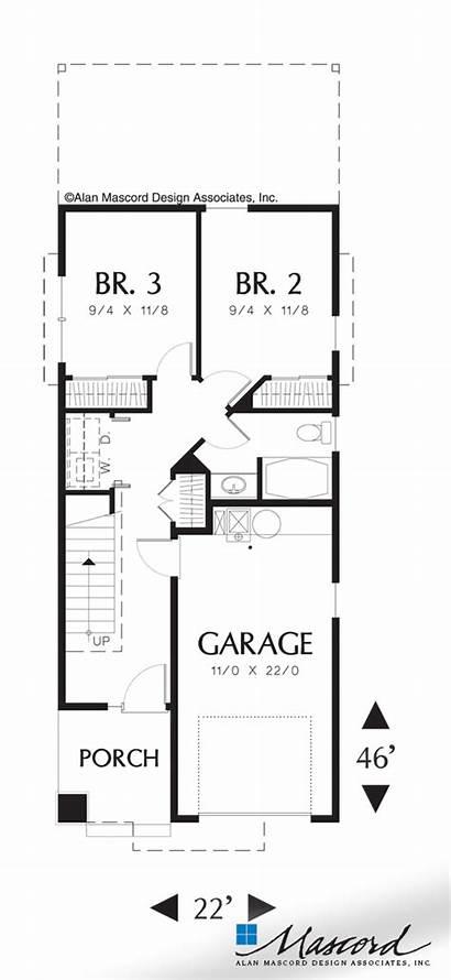 Plan Floor Mascord Houseplans Plans