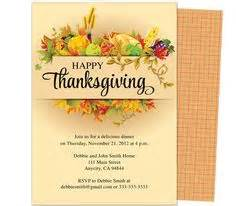thanksgiving invitation templates free word thanksgiving dinner invitation templates cimvitation