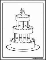Cake Coloring Pages Printables Elegant Colorwithfuzzy sketch template