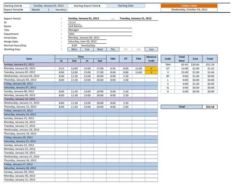employee time sheet manager excel templates excel