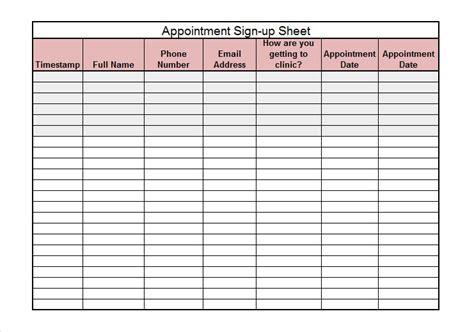 free sign up sheet template 40 sign up sheet sign in sheet templates word excel free template downloads