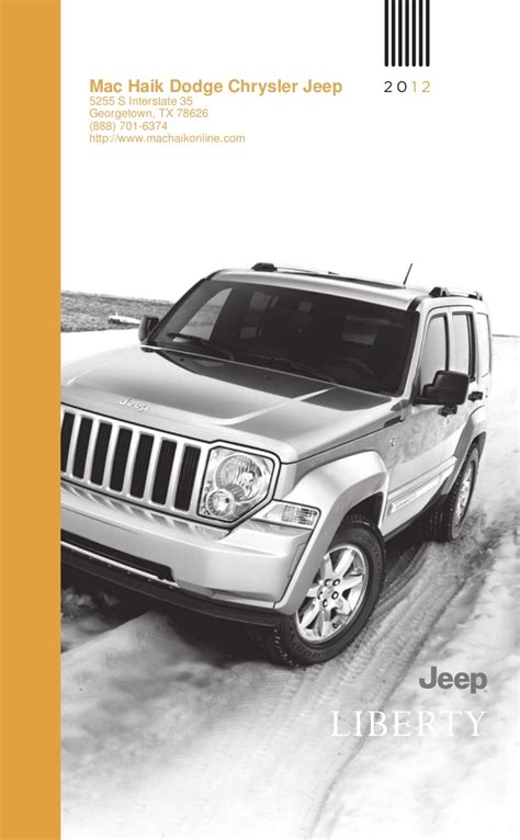 Our various teams are trained to. 2012 Jeep Liberty For Sale TX | Jeep Dealer Near Austin