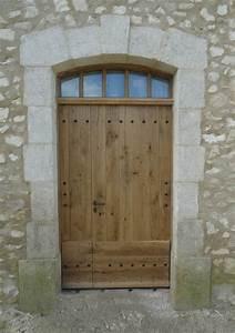 porte d39entree de mas en vieux chene With porte d entrée alu avec enceinte étanche salle de bain