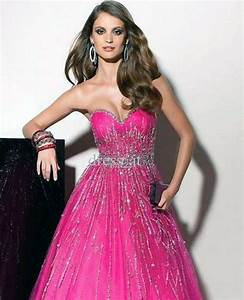 Beautiful Sparkly Prom Dresses Pink - Inofashionstyle.com