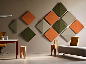 Decorative acoustic wall panels jumply