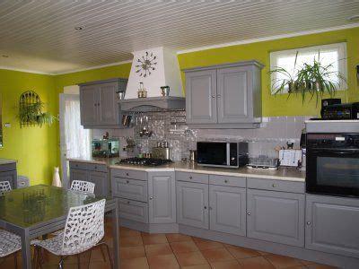 cuisine gris et vert anis la cuisine gris de suède mur anis deco