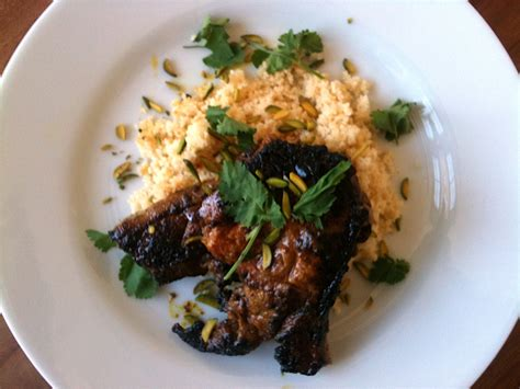 Lamb Steaks With Ras-el-hanout