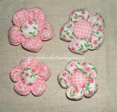 cucito creativo fiori di stoffa fiori imbottiti in stoffa fantasia per bomboniere o decori