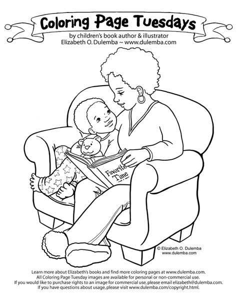 dulemba: Coloring Page Tuesday - Story Time