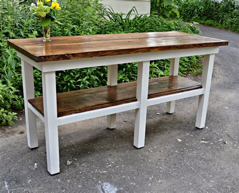 bench for kitchen island heir and space an antique work bench turned kitchen island