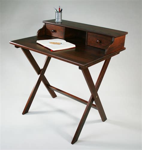 portable solid wood campaign desk  manchester wood