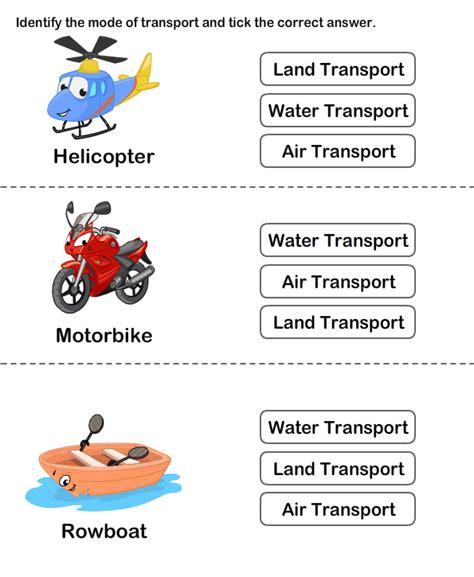 transports worksheets for means of transport worksheet