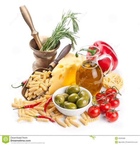 Cucina Italiana Ingredienti Della Pasta Immagine Stock