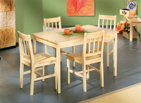 table de cuisine en pin ensemble table 4 chaises carola pin