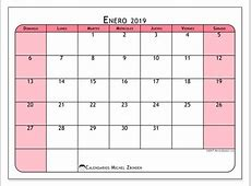 Calendarios enero 2019 DS Michel Zbinden es