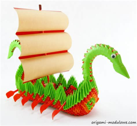 How To Make A Paper Dragon Boat by Modular Origami Dragon Boat 1 By Origamimodulowe On