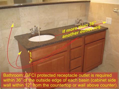 bathroom gfci receptacles  bathroom electrical components